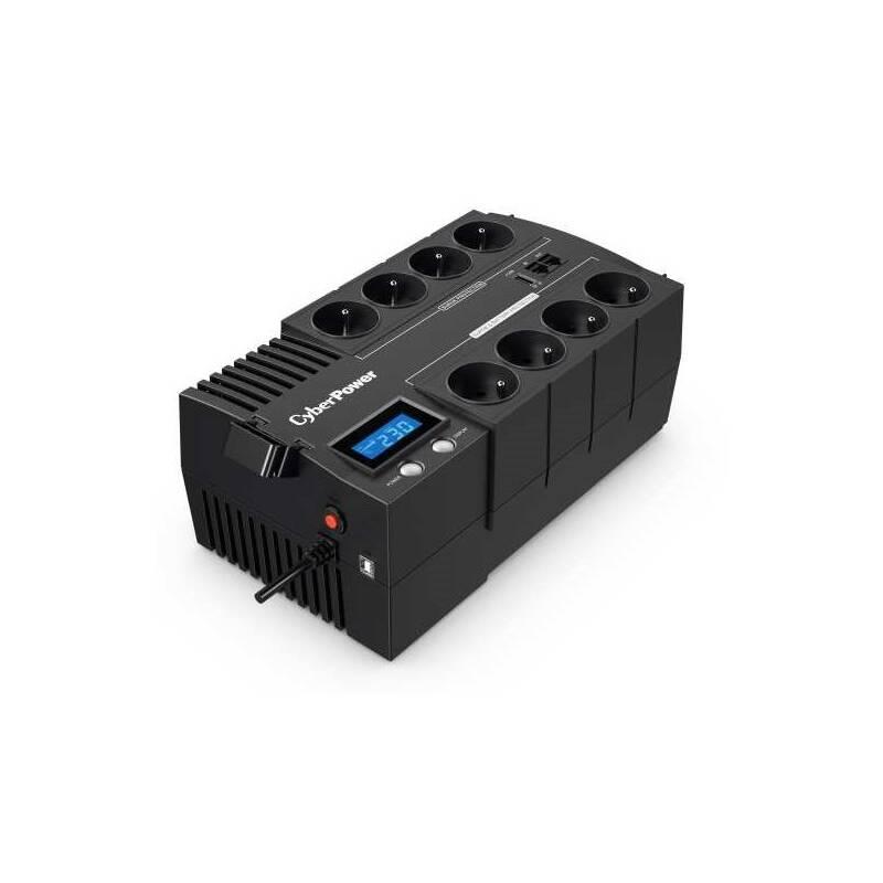 Záložný zdroj Cyber Power Systems BRICs Series II SOHO LCD UPS 1000VA/600W, české zásuvky (BR1000ELCD-FR)