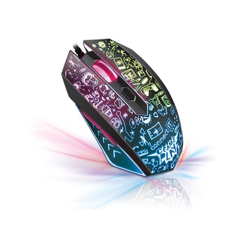 Myš Connect IT Doodle (CI-1143) čierna