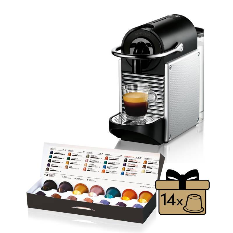 Espresso DeLonghi Nespresso Pixie EN125S strieborné