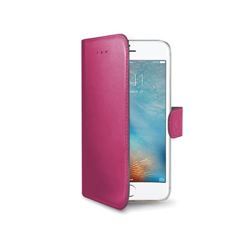 Puzdro na mobil flipové Celly Wally pro Apple iPhone 7/8 (WALLY800PK) ružová farba