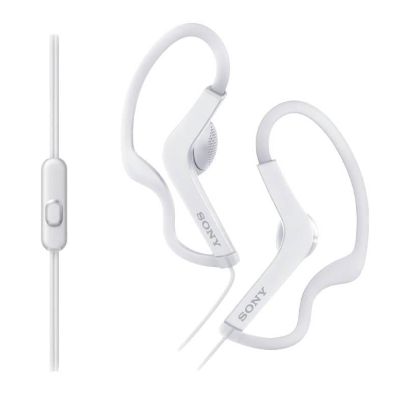 Slúchadlá Sony MDR-AS210APW (MDRAS210APW.CE7) biela farba