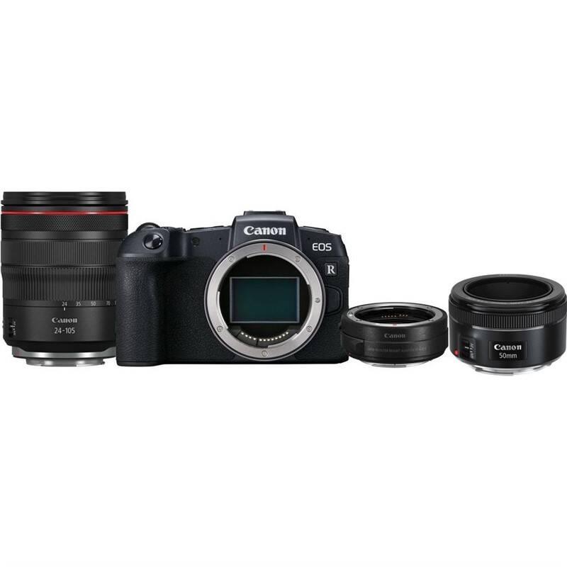 Set výrobkov Canon EOS RP + M 24-105 L IS USM + adapter + EF 50 mm f/1.8 STM + Doprava zadarmo