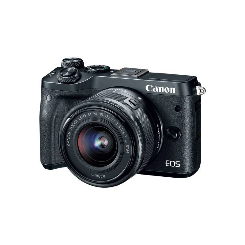 Digitálny fotoaparát Canon EOS M6 + 15-45mm IS STM (1724C012) čierny + Doprava zadarmo
