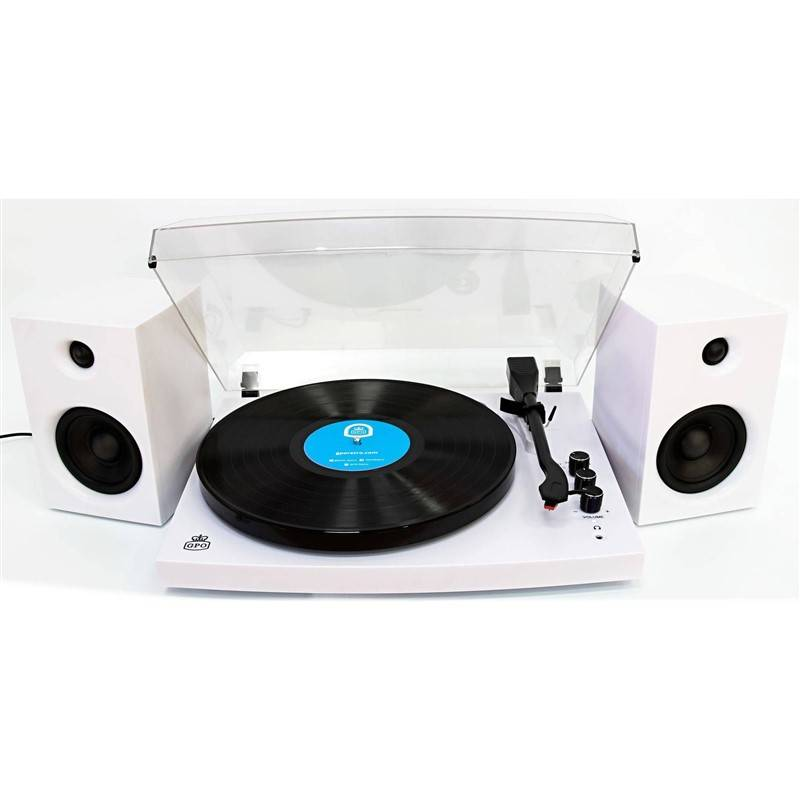 Gramofon GPO Piccadilly bílý