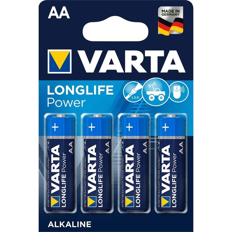 Batéria alkalická Varta Longlife Power AA, LR06, blistr 4ks (4906121414)
