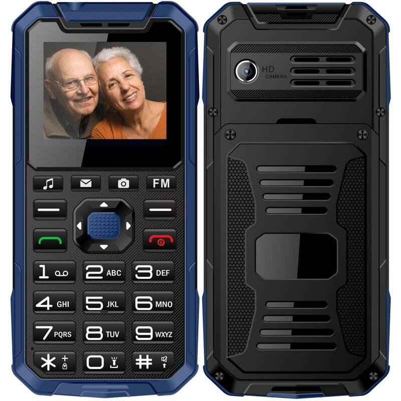 Mobilní telefon CUBE 1 S400 Senior Dual SIM (MTOSCUS400051) modrý