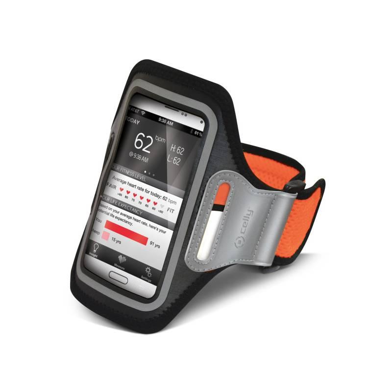 Puzdro na mobil športové Celly Armband XXL (AIRBAND02) oranžové
