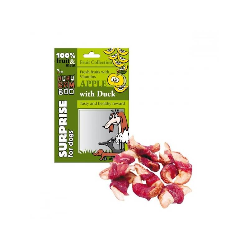 Pamlsok Huhubamboo Surprise Dog Fruit jablko a kachna 75g