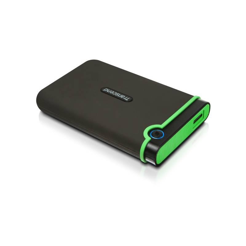 Externý pevný disk Transcend StoreJet 25M3 1TB (TS1TSJ25M3) sivý/zelený