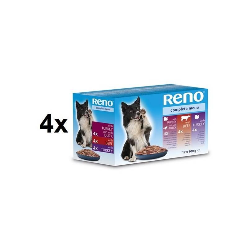 Kapsička Reno pro psa s hovězím + s krůtím + s kachním 4 x (12 x 100g)