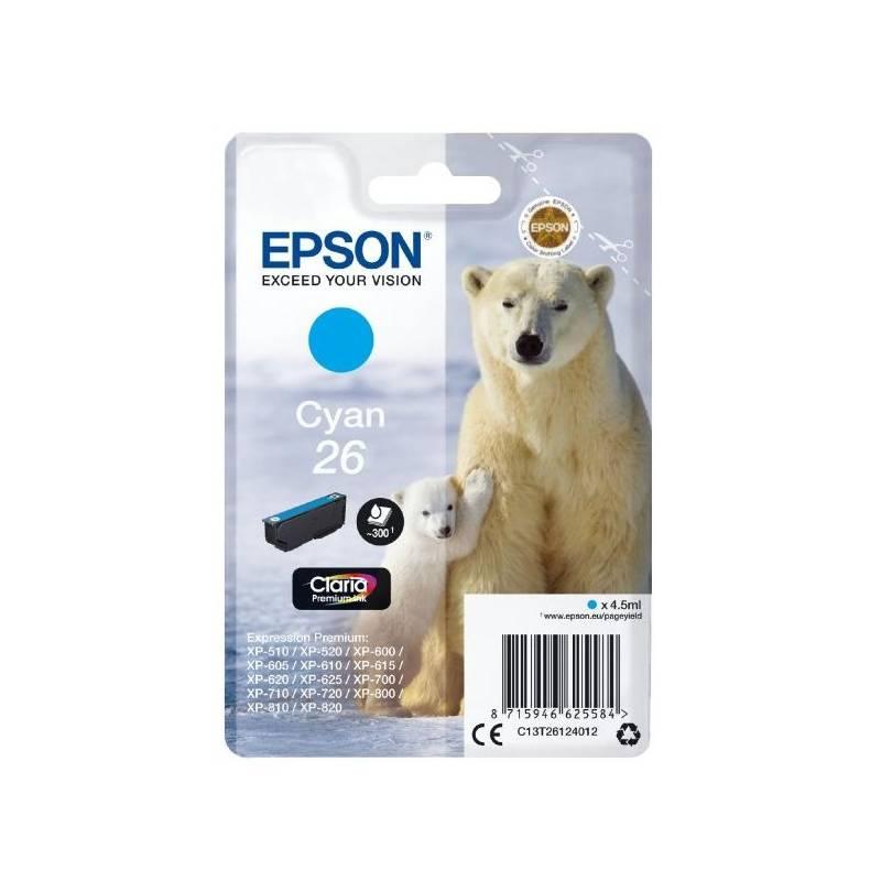 Inkoustová náplň Epson T2612, 26 Claria Premium Ink, (C13T26124010) modrá