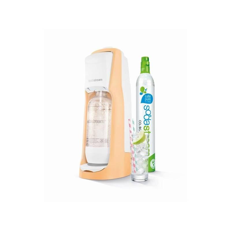 Výrobník sódovej vody SodaStream Pastels JET PASTEL ORANGE oranžový + Dětský set SodaStream Žížaláci 2 lahve + dárky v hodnote 17.90 €