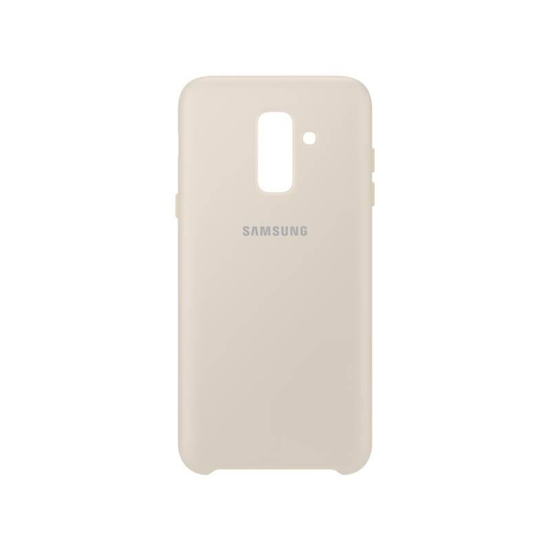 Kryt na mobil Samsung Silicon Cover pro Galaxy A6+ (EF-PA605CFEGWW) zlatý