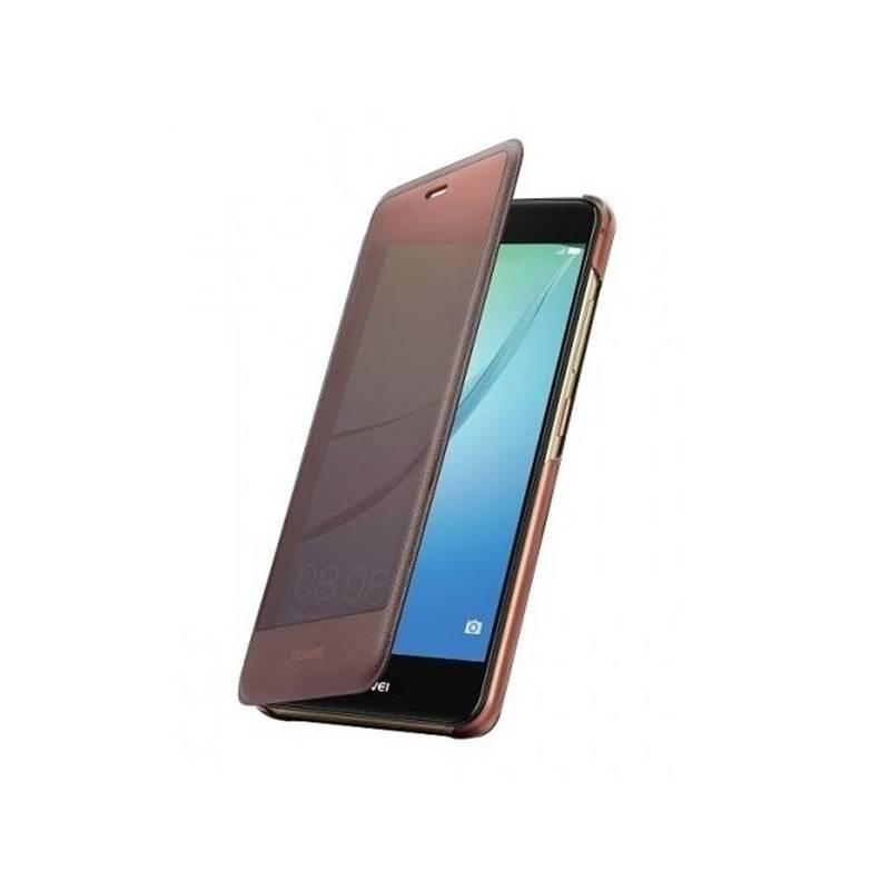 Pouzdro na mobil flipové Huawei Smart View pro Nova (51991767) hnědé