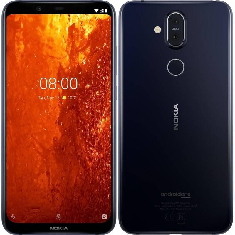 Mobilný telefón Nokia 8.1 (11PNXL01A05) modrý
