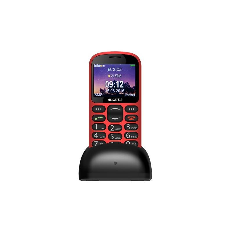 Mobilný telefón Aligator A880 GPS Senior (A880RD) červený