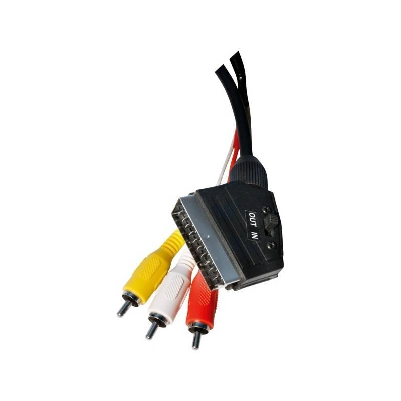 Kabel EMOS SCART / 3x Cinch, 1,5m černý