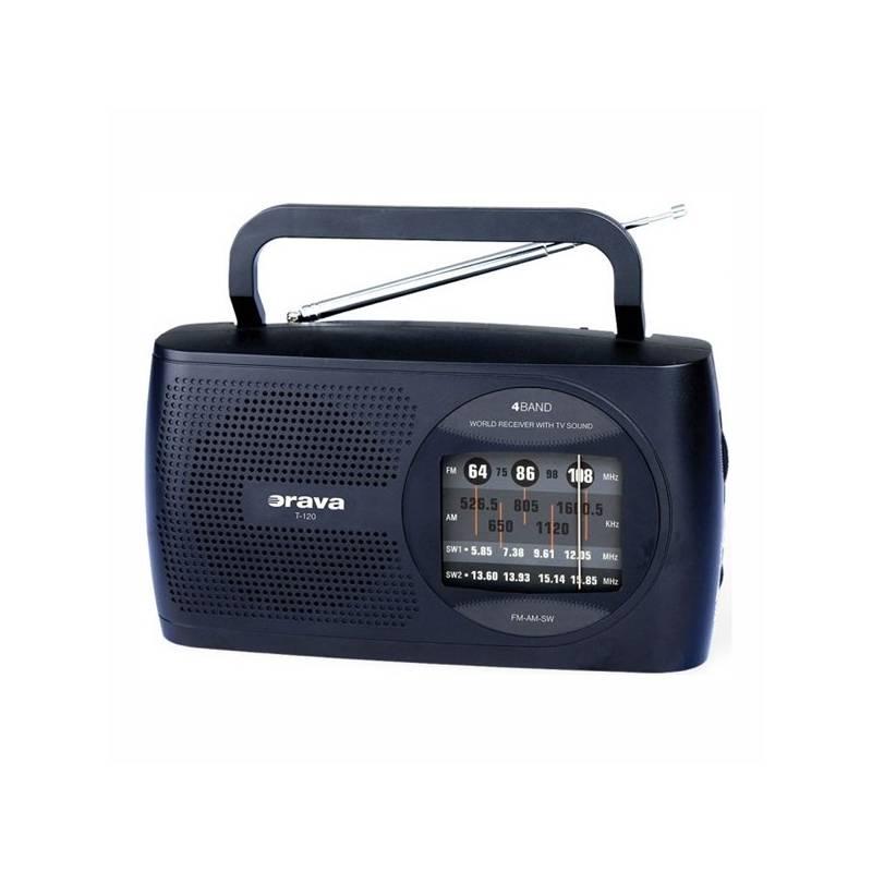 Rádioprijímač Orava SK T-120 čierny/modrý
