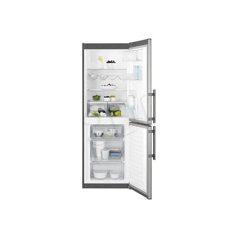 Kombinácia chladničky s mrazničkou Electrolux EN3201MOX sivá/nerez + Doprava zadarmo