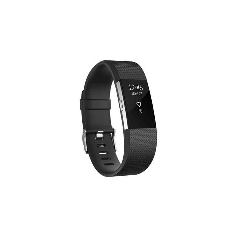Fitness náramok Fitbit Charge 2 large - Black Silver (FB407SBKL-EU)