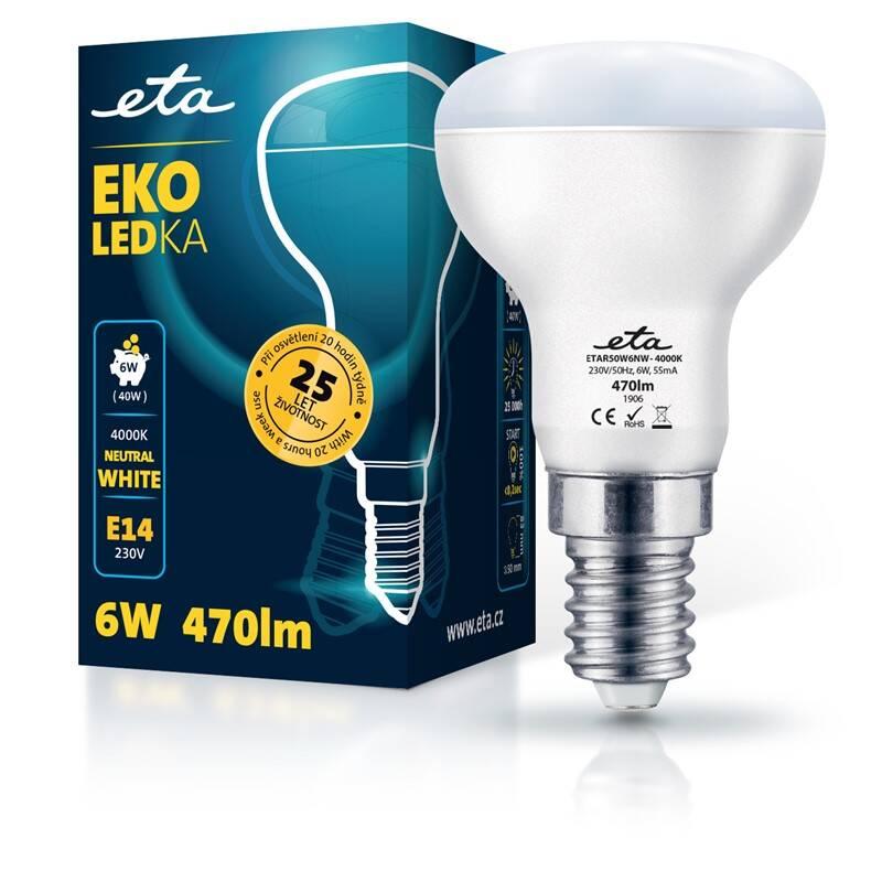 LED žiarovka ETA EKO LEDka reflektor 6W, E14, neutrálna biela (R50W6NW)