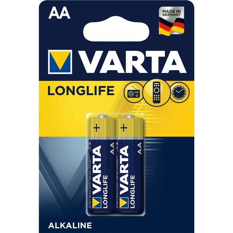Batéria alkalická Varta Longlife AA, LR06, blistr 2ks (4106101412)