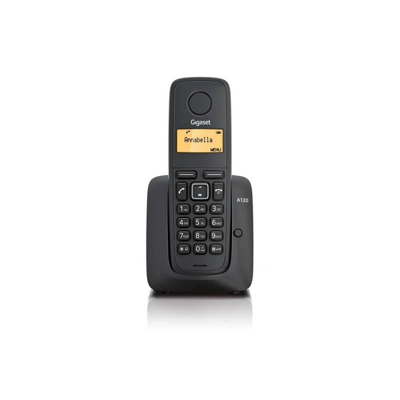Domáci telefón Siemens Gigaset A120 (S30852-H2401-R601) čierny