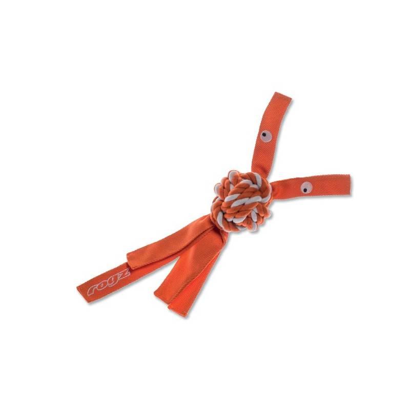 Hračka Rogz CowBoyz provazová 7,8cm oranžová