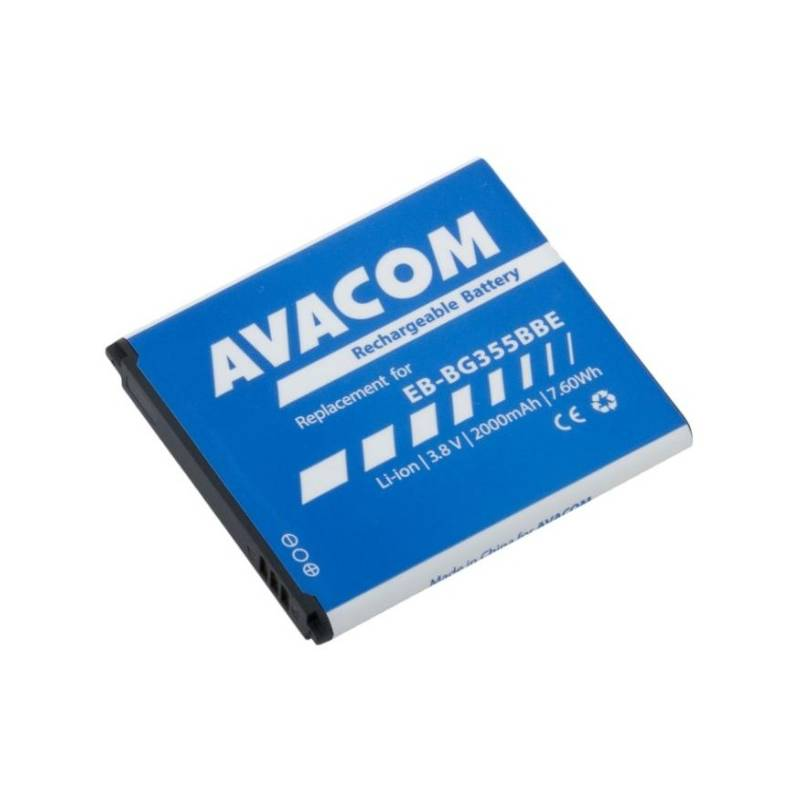 Baterie Avacom pro Samsung Core 2, Li-Ion 3,8V 2000mAh, (náhrada EB-BG355BBE)
