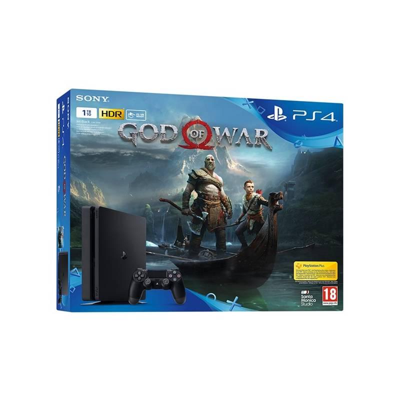 Herná konzola Sony PlayStation 4 SLIM 1TB + God of War (PS719384878) čierna + Doprava zadarmo