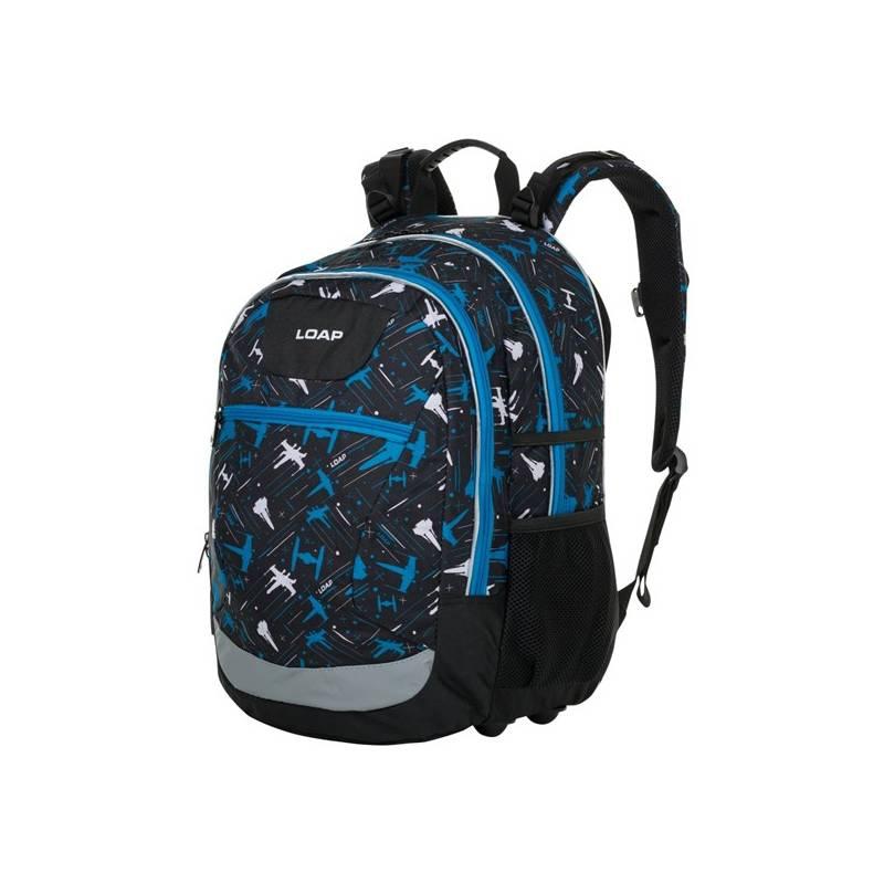 Batoh školský Loap ELLIPSE black/blue + Selfie tyč Olpran s ovládacím tlačítkem v hodnote 15.60 € + Doprava zadarmo