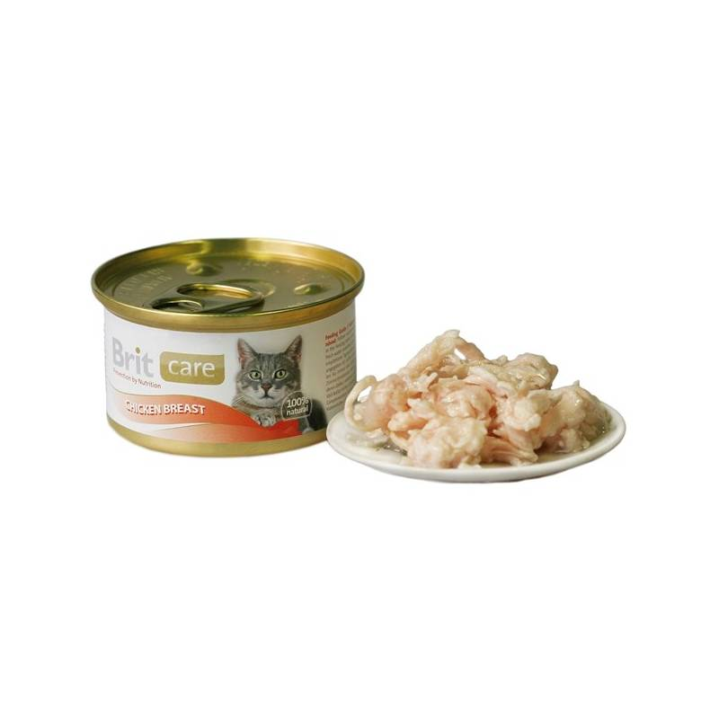 Konzerva Brit Care Cat kuřecí prsa 80g