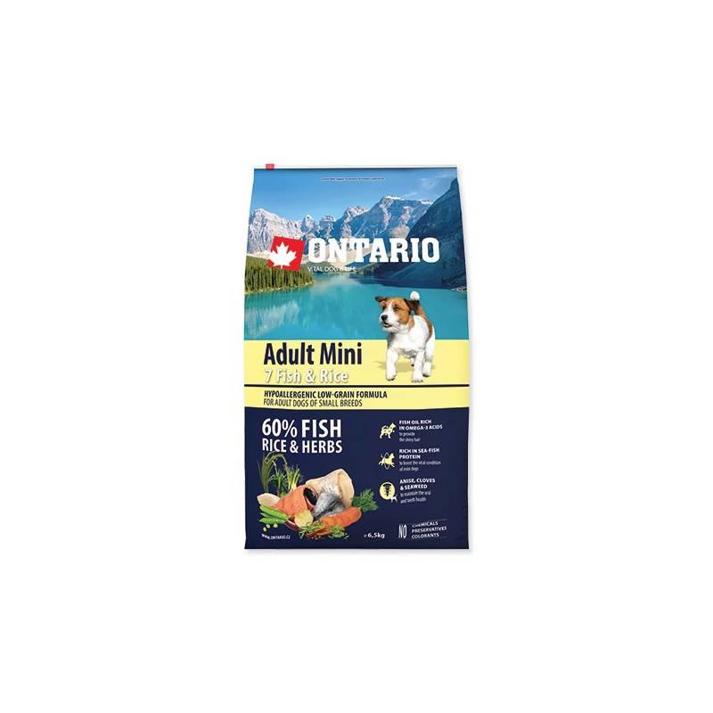 Granuly Ontario Adult Mini 7 Fish & Rice 6,5kg