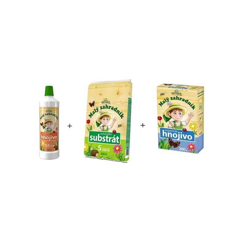 Set prípravkov Agro Malý záhradník kvapalné hnojivo + organické hnojivo + substrát