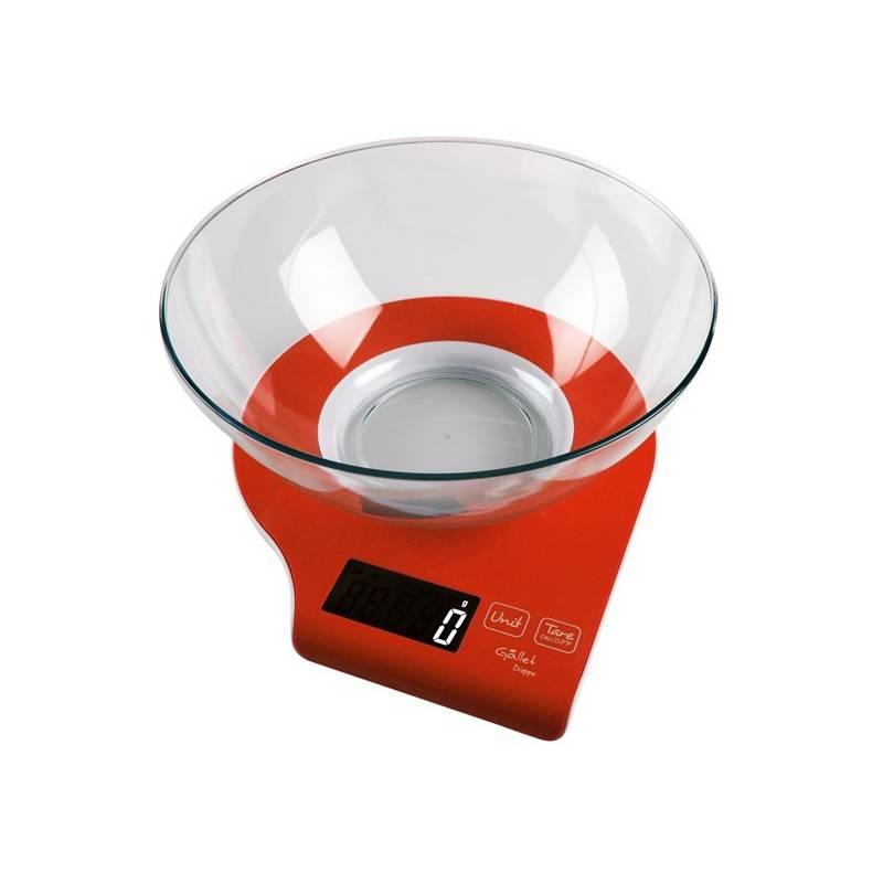 Kuchynská váha Gallet Dieppe BAC 837 R červená