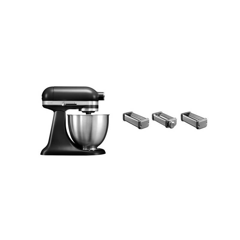 Set KitchenAid - kuchyňský robot 5KSM3311XEBM + KPRA sada strojků na těstoviny + Doprava zadarmo