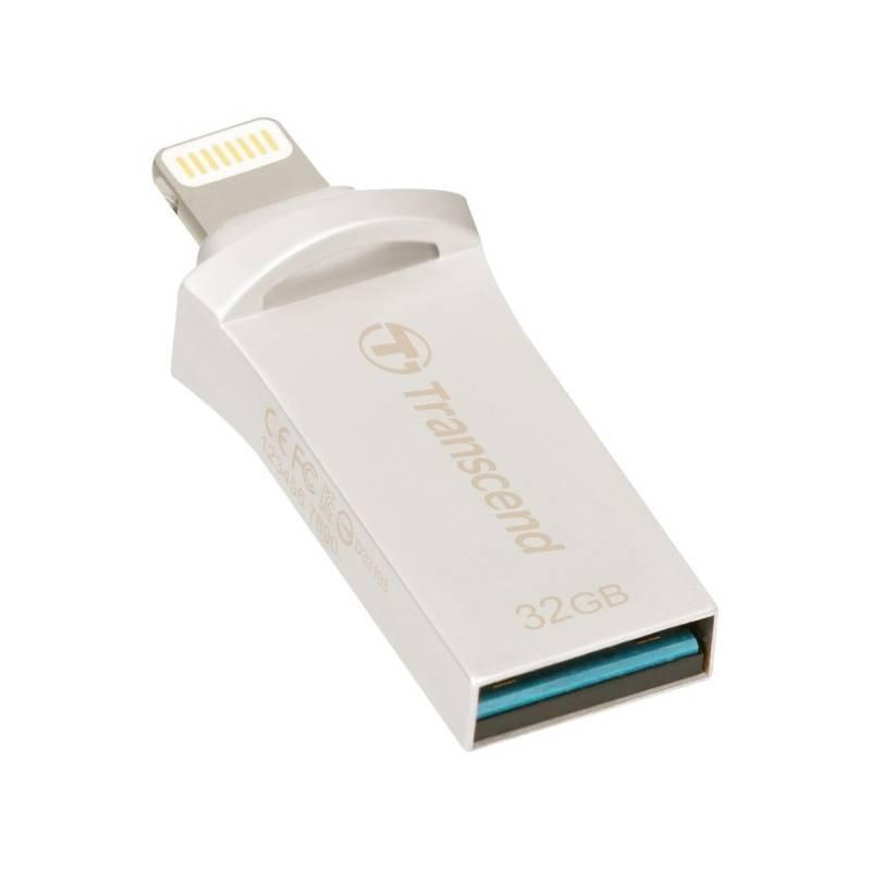 USB flash disk Transcend JetDrive Go 500 32GB (TS32GJDG500S) strieborný