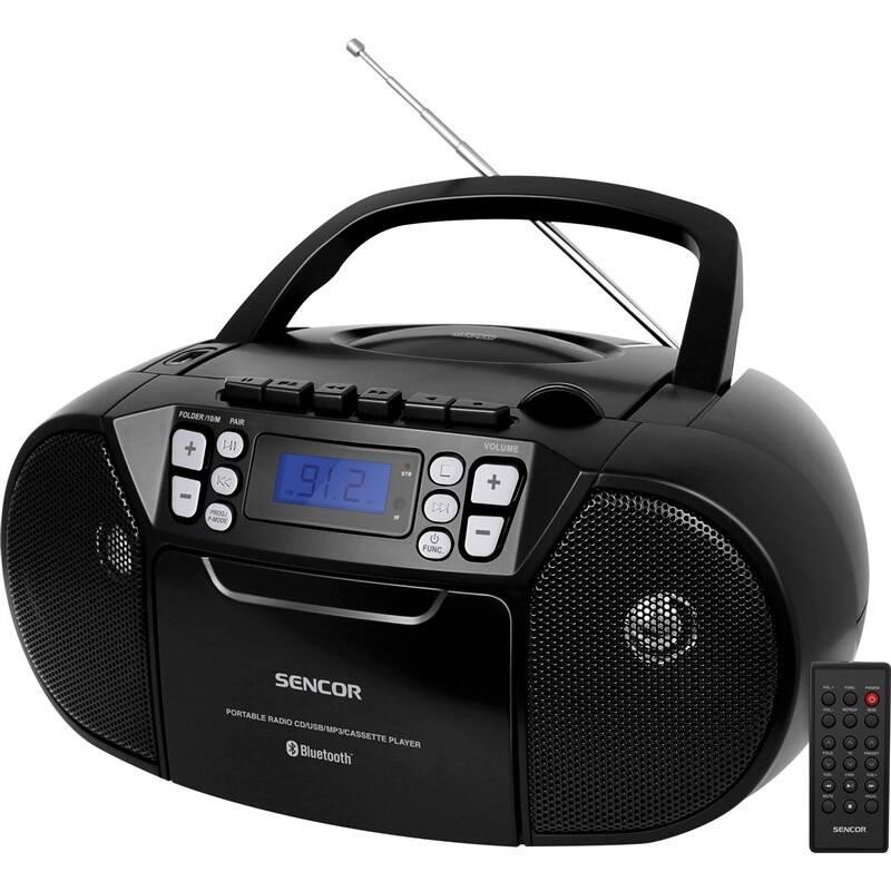 Rádiomagnetofón s CD Sencor SPT 3907 B čierny