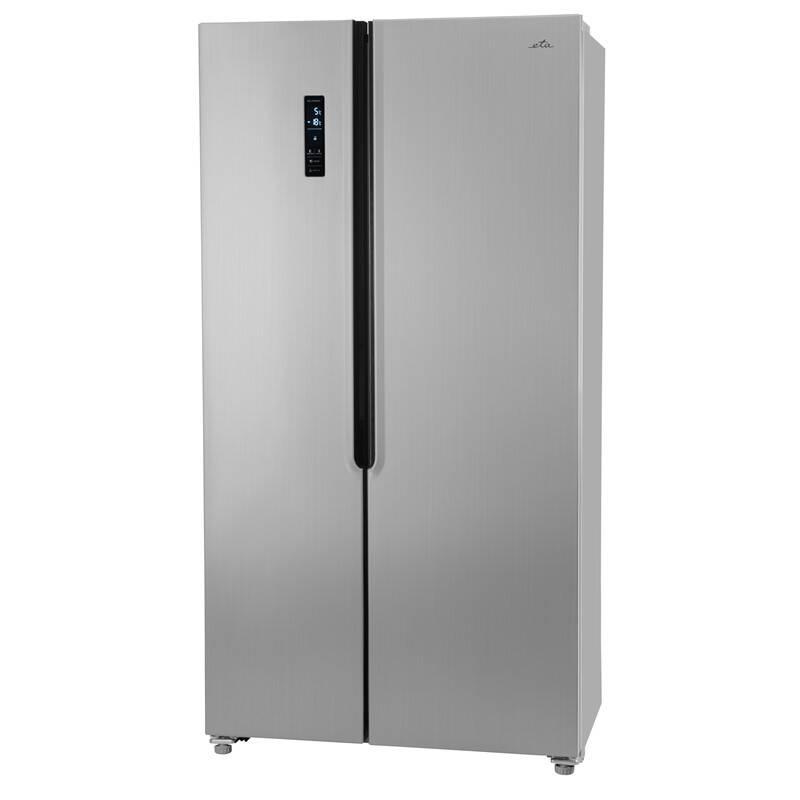 Americká chladnička ETA 138890010 strieborná + Doprava zadarmo