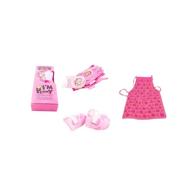 Set výrobkov M.A.T. ochranný oděv + sada nářadí pro malé zahradnice ružový