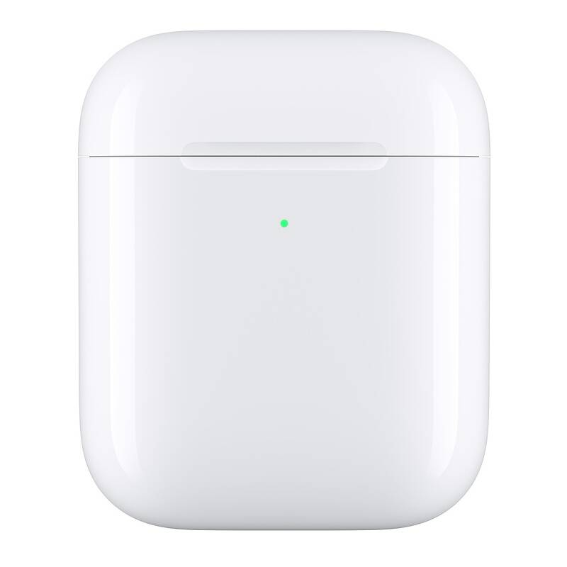 Púzdro Apple pre AirPods, bezdrôtové nabíjanie (MR8U2ZM/A) biele