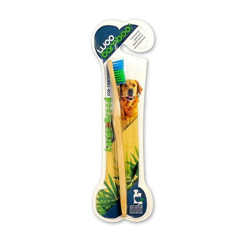 Zubná kefka WooBamboo zubní kartáček z bambusu pro střední a velké psy
