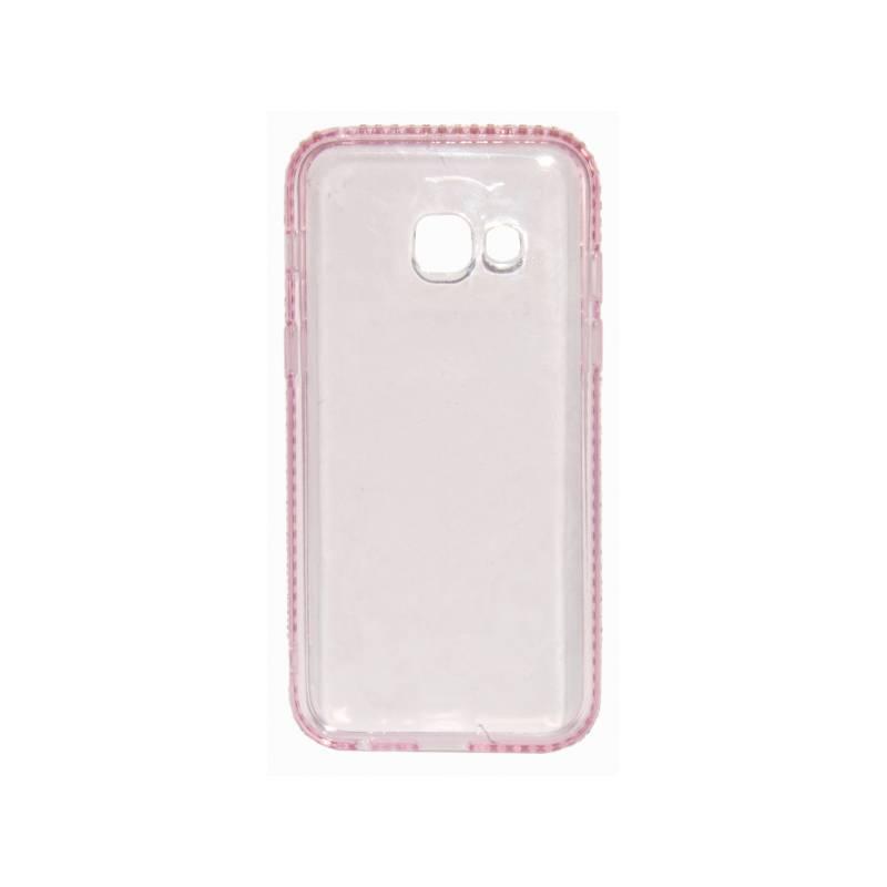 Kryt na mobil Beeyo Diamond Frame pro Samsung Galaxy A3 (2017) (BEASAGAA32017TPUFRPI) ružový