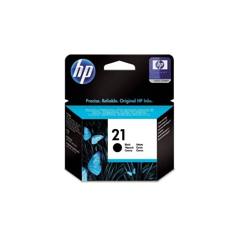 Inkoustová náplň HP No. 21, 150 stran - originální (C9351AE) černá
