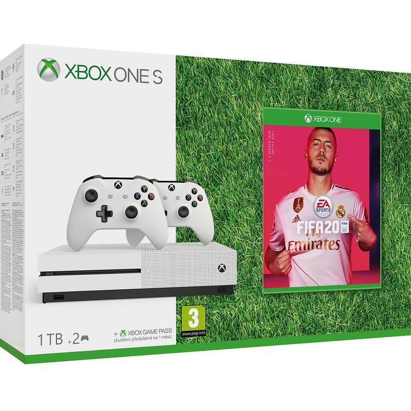 Herná konzola Microsoft Xbox One S 1 TB + ovladač + FIFA 20 (234-00607) + Doprava zadarmo