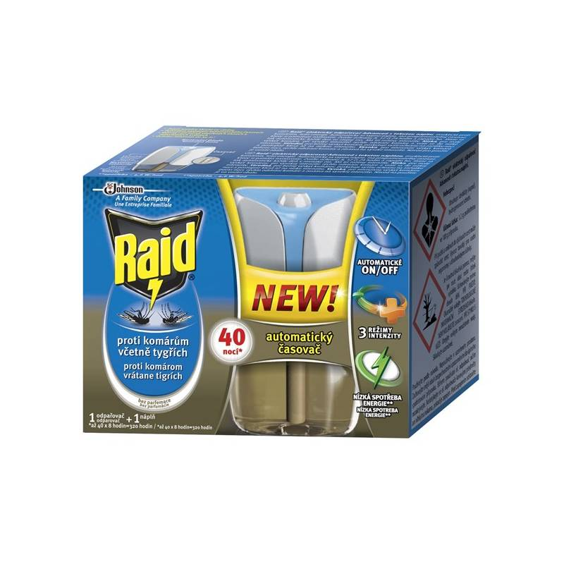 Odpuzovač hmyzu Raid elektrický odpařovač s tekutopu náplní Advanced
