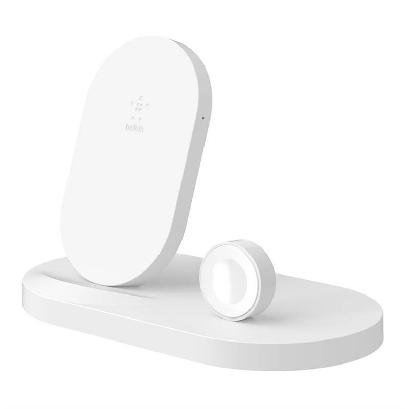 Bezdrátová nabíječka Belkin Boost Up pro iPhone + Apple Watch + USB-A port (F8J235vfWHT) bílá