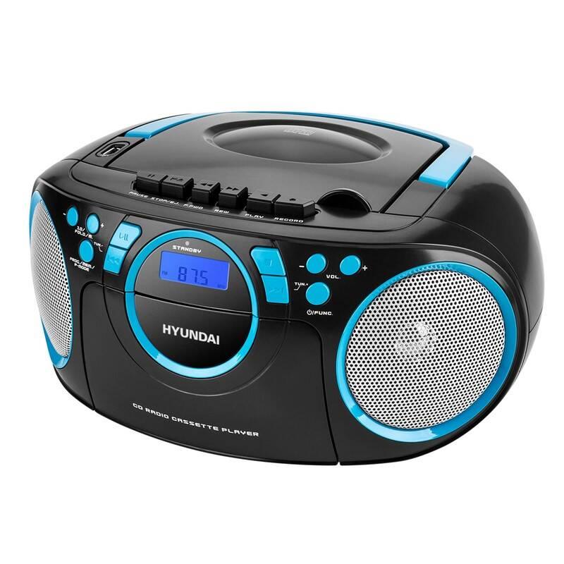 Rádiomagnetofón s CD Hyundai TRC 788 AUBBL čierny/modrý