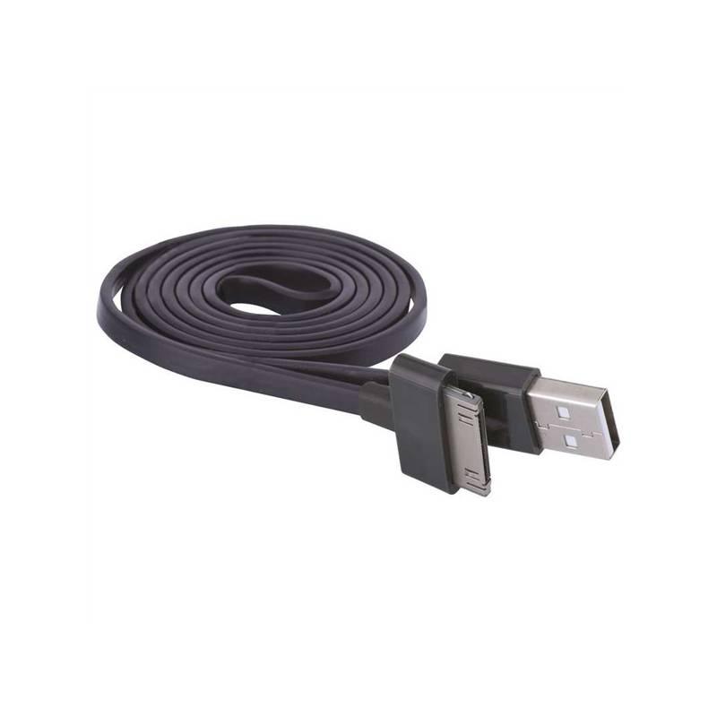 Kabel EMOS USB 2.0 A/M - i30P/M 1m černý