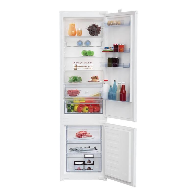 Kombinácia chladničky s mrazničkou Beko BCSA306K2S + Doprava zadarmo